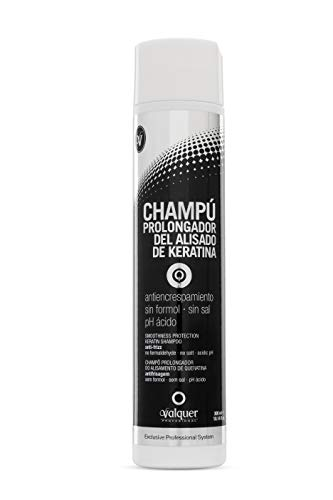 Válquer Champú Prolongador del Alisado de Keratina, 300ml - 1 botella