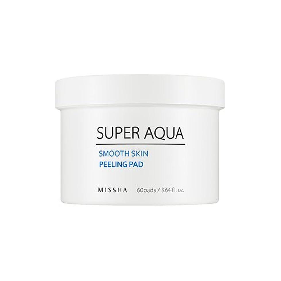 ヘア有望不安[New] MISSHA Super Aqua Smooth Skin Peeling Pad (60pads)/ミシャ スーパー アクア スムース スキン ピーリング パッド (60枚入り)