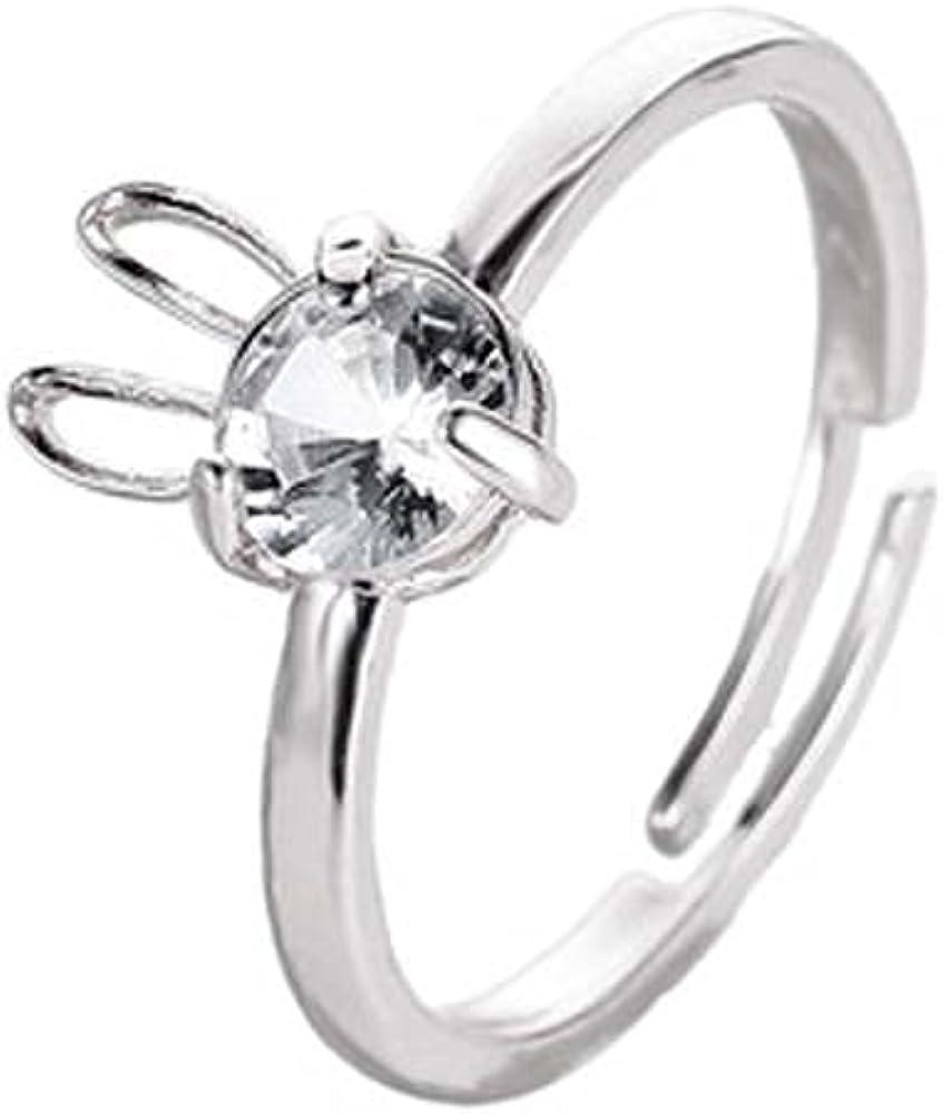 Cute Rabbit Rings for Women Girls Trendy Animal Ring for Friendship Wedding