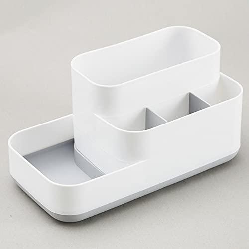 Caja de almacenamiento cosmética de plástico desmontable mesa superior estante estante almacenamiento gris
