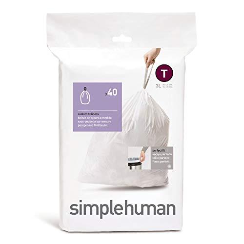 simplehuman, Code T passgenaue Müllbeutel Packung mit 40