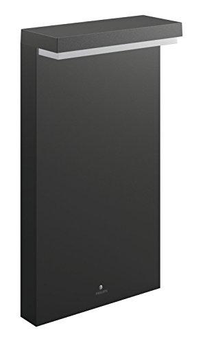 Philips 1648593P0 BUSTAN Borne Aluminium/Matières synthétiques Gris 22 x 9 x 40 cm