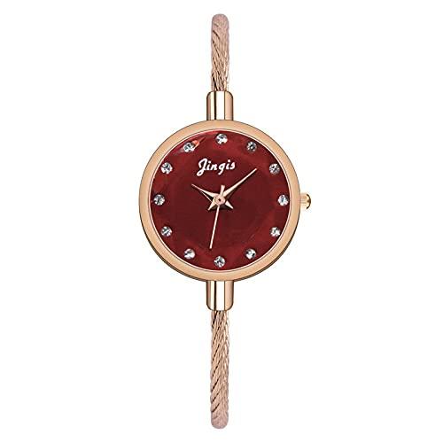 CXJC Reloj de Pulsera de Las Mujeres Coreanas. Color de Caramelo pequeño Fresco Arco Iris Estrella Reloj de Mujer. Reloj Degradado de Las señoras (Color : C)