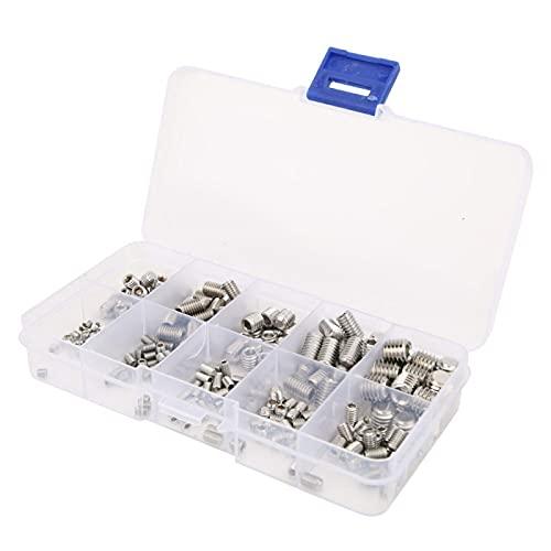 Kit de sujetadores hexagonales sin cabeza, práctico juego de tornillos prisioneros, accesorios de sujetadores para accesorios industriales Hardware de sujetadores Hardware industrial