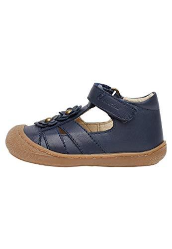Naturino Maggy-Sandale mit applizierten Blümche-Navy blau 23