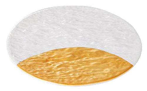 白金彩半月石目 平皿17cm [ 17 x 1.3cm ] [ 和皿 ] | 和食 飲食店 旅館 料亭 業務用