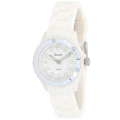 Select Lw-30-01 Reloj Analogico para Mujer Caja De Resina Esfera Color Blanco