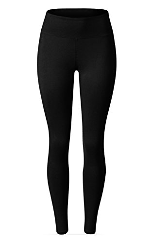 SATINA High Waisted Leggings – 25 Colors – Super Soft Full Length Opaque Slim