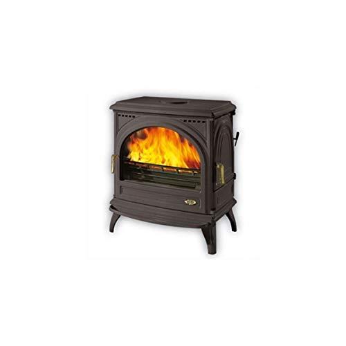 Godin - 366101 - Poêle à bois fonte émaillé 12.5kw anthracite CARVIN