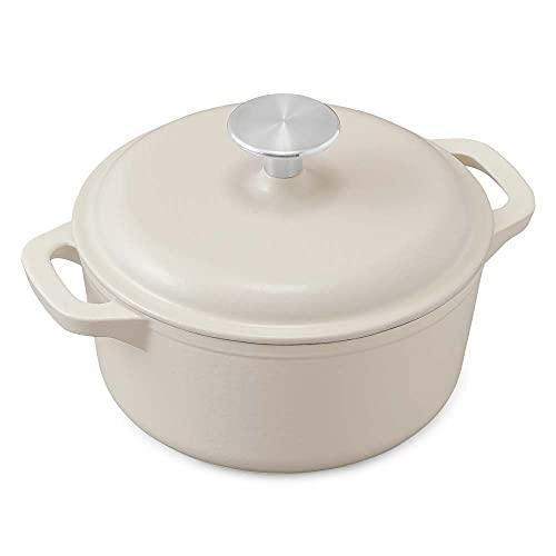 【1台で6調理法】アイリスオーヤマ ホーロー鍋 無水鍋 両手鍋 鋳物 ホーロー 鋳鉄鍋 17cm 鋳物ホーロー鍋 無加水調理 オーブン調理可 おしゃれ 汚れが付きにくい 丈夫 ホワイト