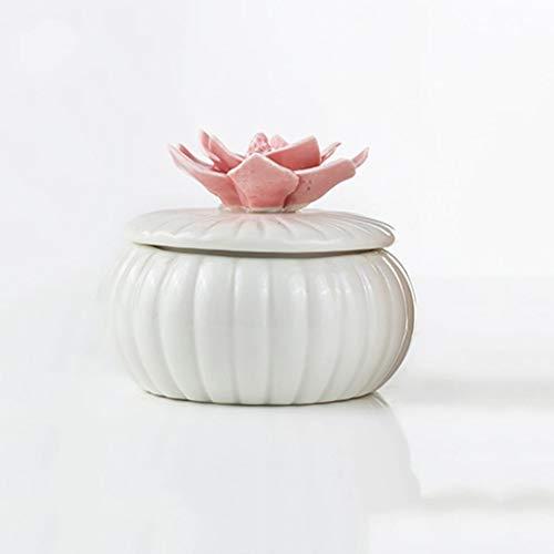 LAOHAO Aromathérapie Bougie Lotus Céramique Bouteille Aromathérapie Décoration Cire Végétale Naturelle Au Cadeau Odeur Aromathérapie intérieure (Color