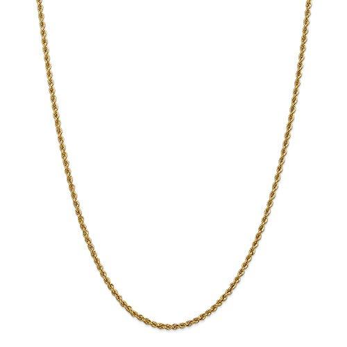 Diamond2Deal - Collana a catena in oro giallo 14 kt, 2,5 mm, lunghezza 61 cm