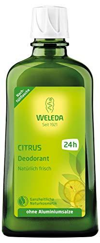 WELEDA Citrus Deodorant Nachfüllflasche, natürlich frisches Naturkosmetik Deo mit ätherischen Ölen, wirkt desodorierend ohne Poren zu verschließen, ohne Aluminiumsalze (1 x 200 ml)