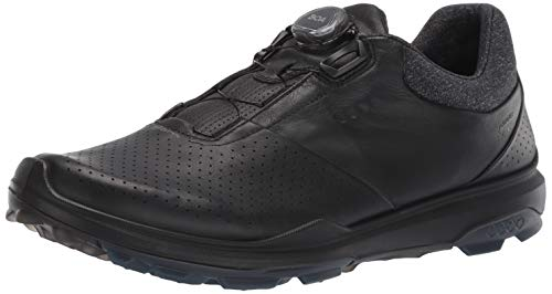 ECCO Men's Biom Hybrid 3 Boa Gore-Tex Golf Shoe, Black Yak Leather, 43 M EU (9-9.5 US)