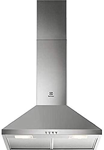 Electrolux LFC316X cappa 420 m3/h montata a parete in acciaio inossidabile D – cappa (420 m3/h, conduto/ricircolo, E, C, 66 dB)