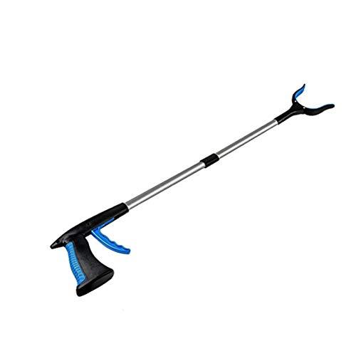 PYXZQW Pinza para agarrar Objetos, Reacher Grabber Tool, Ayuda de Recogida de Basura de Aluminio de 32'Herramienta de Agarre Plegable, Nabber, Recogedor de Basura, Extensión de Brazo, 2PCS, Azul