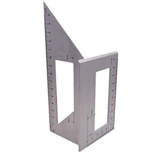 Multifunktionales quadratisches Winkellineal, Baulineal, Verwendung für die Messung von Holzbearbeitungswerkzeug (45/90 Grad), Farbe: 1