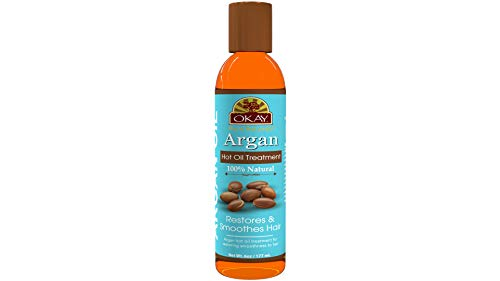 Argan Hot Oil Treatment for Restorative Restores Damaged Hair Nourishes,Smoothes The Hair Cuticle Improves Hair Appearance Silicone,Paraben Free For All Hair Types and Textures Made in USA 6oz