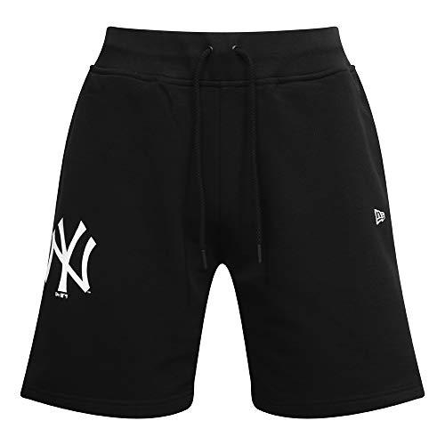 New Era York Yankees Taped Black Shorts, Schwarz XS