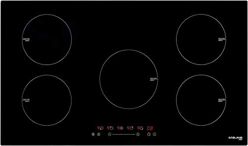 Induction Cooktop 36 Inch , GASLAND Chef IH90BF Electric Cooktop 240V, Built-in 5 Burner Induction Stovetop, 9 Power Levels, Sensor Touch Control, Child Safety Lock, 1-99 Minutes Timer