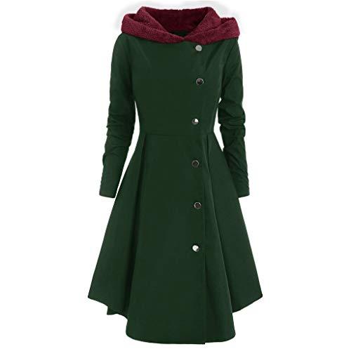 Xinantime Vrouwen Winterjas Dames Casual Slim Hooded Lange Jas Plus Size Fleece Knopen Warm Bovenwerk XL-4XL