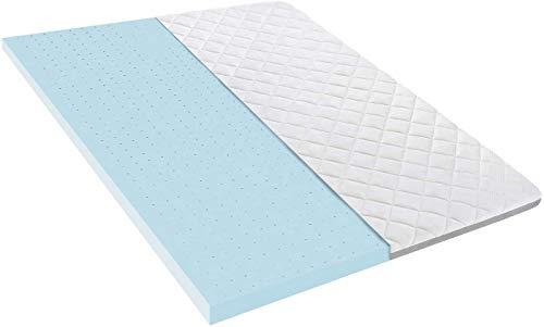 BedStory Sobrecolchón de 140 x 200 cm, gel Topper con núcleo de espuma fría y funda extraíble lavable, 7,5 cm de altura, transpirable y cómodo, para camas con somier y camas incómodas.