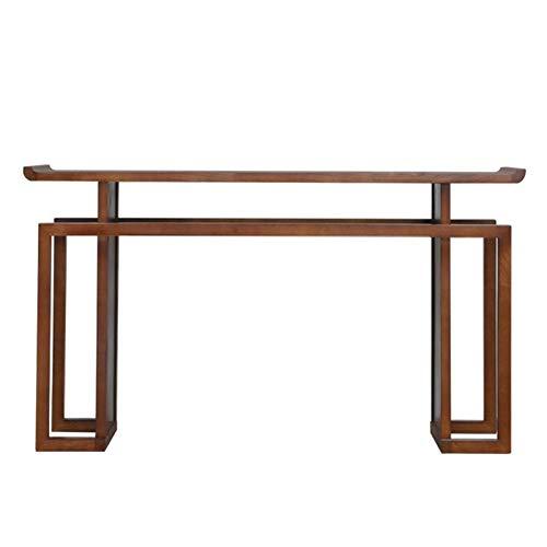 Mesa de Entrada Hall de entrada de estilo chino Decoración larga de la vista lateral de la vista lateral del escritorio de madera maciza Mueble del Salón ( Color : Multi-colored , Size : 100x36x86cm ) ⭐