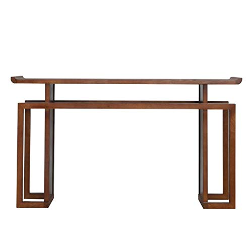 YaGFeng Console Table Chinese Style Entrance Hall Long Narrow Decoration Side View Desk Solid Wood Entrance Desk Suitable for Bedroom Balcony (Color : Multi-colored, Size : 80x36x86cm)