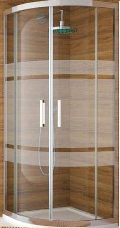 Duschwand abgewinkelt Siebdruckdesign 2030–90P 90x 90m