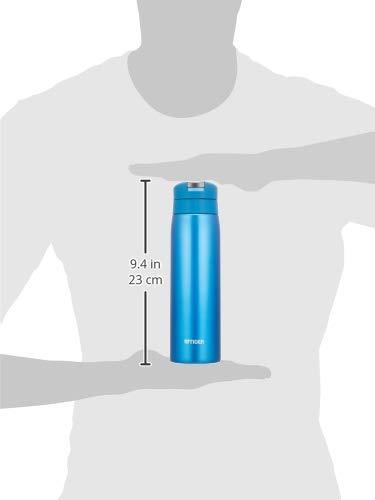 『タイガー 水筒 500ml サハラ マグ ステンレスボトル ワンタッチ 軽量 スカイブルー MCX-A501AK』のトップ画像