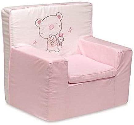 pirulos 32013014 nbsp   nbsp Armchair  Design Bear Star  Cotton  53 nbsp x 49 nbsp x 27 nbsp cm  White Pink