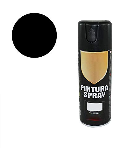 8577 Pintura Spray Negro Brillo 400 Ml