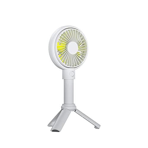 Ventilador de mano portátil, mini ventilador personal de 3 velocidades para escritorio, mini ventilador manual con batería recargable USB, mini ventilador portátil de 5 a 15 horas para exteriores