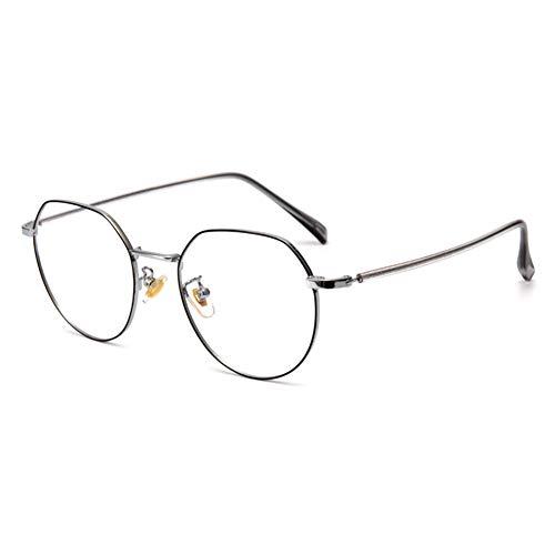 EYEphd Gafas de Lectura de luz Anti-Azul Poligonal de Las Mujeres, 1,56 Lector de Lentes de Resina asférica Adecuada para Oficina/Costura dioptrías +1.0 a +3.0,04,+1.25