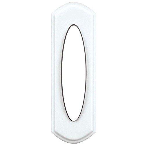 Hampton Bay Wireless Door Bell Push Button, White
