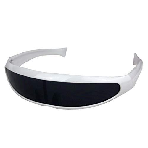 FRAUIT Damen Herren Fischschwanz Sonnenbrille Integriert Uni-Linse Sonnenbrille Brille Polarisierte Sonnenbrille für Fahren Draussen Sportbrille Winddichte Sand Reiten Mountainbike Reitbrille
