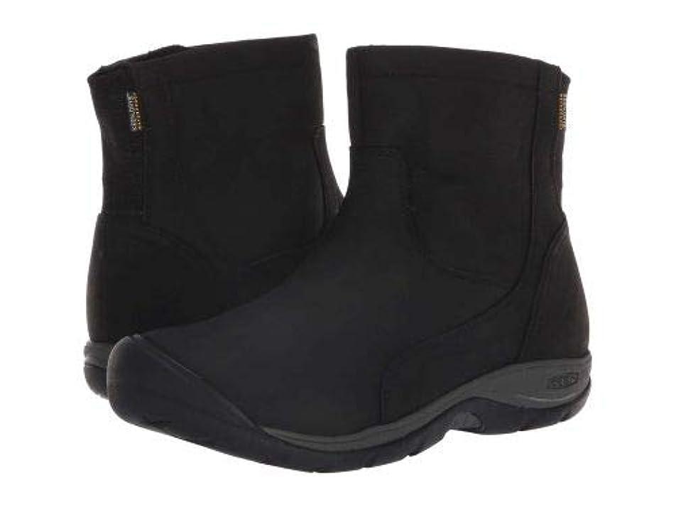 あいまいな耐えられない地質学Keen(キーン) レディース 女性用 シューズ 靴 ブーツ レインブーツ Presidio II Waterproof Mid Zip Boot - Black/Magnet [並行輸入品]