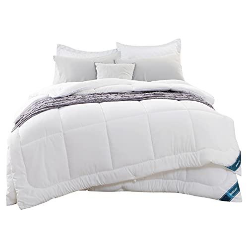 Bedsure Bettdecke 135x200 cm 300GSM 150GSM 4 Jahreszeiten, Oeko-Test Zertifiziert Atmungsaktive Schlafdecke, Super Weiche Kuschelige Steppdecke