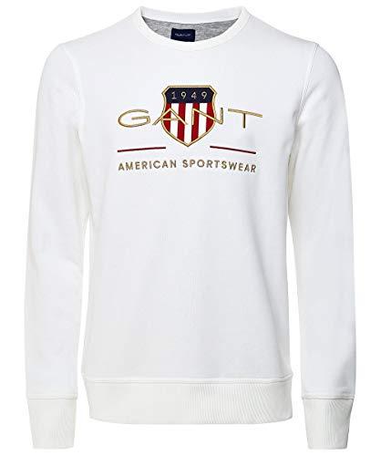 GANT Herren Archive Shield C-Neck Sweatshirt, Eggshell, XL