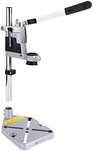 Drill Press Stand, Universal Adjustable Aluminum Bench Clamp Desktop Drill Holder Workbench Repair Support Tool Drill Press Table Drill Stand with Single Hole Aluminum Heavy-duty Base