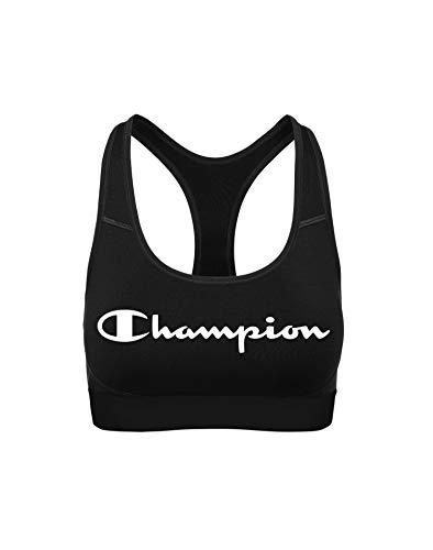 Champion Women's Absolute Workout Sports Bra Bra, Black, Medium