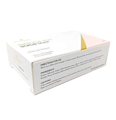Salicylic Acid Scrub Soap Pore Exfoliating, Acne Fighting, Softening Skin, Anti-Blemish, Removes Warts