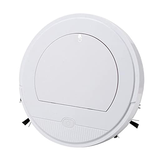 BSWL Robot de barrido, limpiador de control remoto APP, evitación de obstáculos inteligente, barrido y arrastrar aspiradora integrada delgada para mármol, pisos, baldosas de cerámica. Blanco