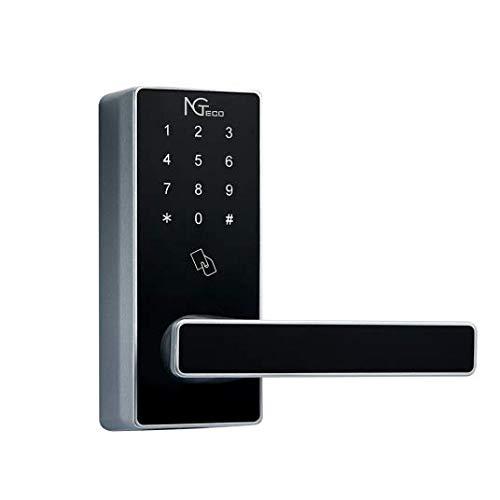 NGTeco DL30Z- Cerradura WiFii Inteligente - Lock + 5 Tarjetas RFID - Teclado Digital- WiFi +Gateway - Smartphone App - Ideal para Casa, Hoteles, Pisos compartidos, viviendas turísticos, ZKTeco