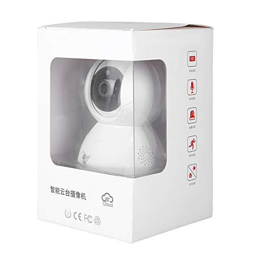 zcyg Cámara Cámara de vigilancia Cámara de Seguridad Monitor De Bebé, 7200P WiFi IP Security Security Pan/Tilt Cámara Wireles Elder Pet Office Baby Monitor 100-240V EU