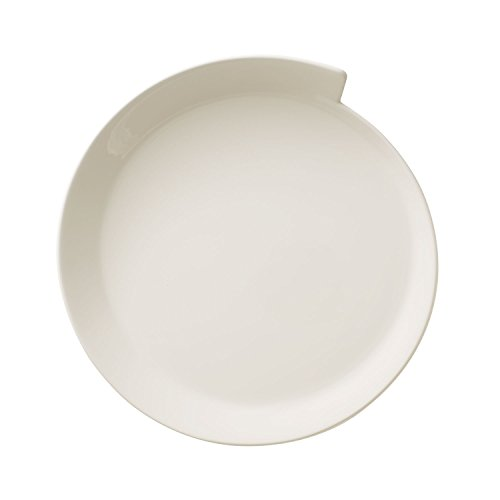 Villeroy & Boch NewWave Assiette petit-déjeuner ronde, 25 cm, Porcelaine Premium, Blanc