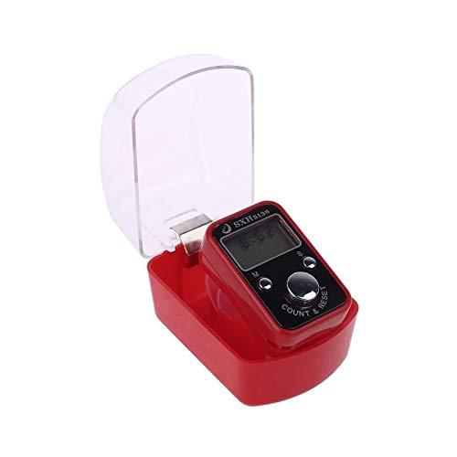 Podómetro Contador electrónico digital de muñeca portátil con pantalla de visualización de tiempo Restablecer la herramienta de dedo de relajación de descompresión para la meditación rastreador de pas