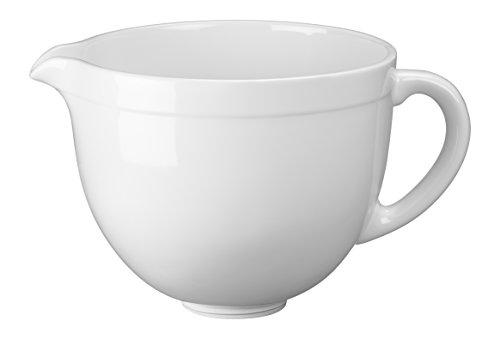 KitchenAid Bol en Céramique pour Robot Pâtissier Multifonction à Tête Inclinable Blanc 4,7 L