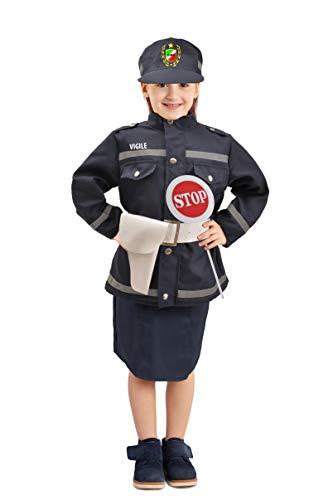 Ciao-Vigilessa Costume Travestimento Bambina (Taglia 4-6 Anni), Colore Blu, 10832.4-6