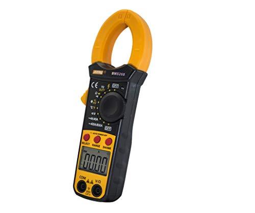 HYCy Multimètre de Poche à Pince numérique Multimètre AC/DC True RMS Volt Amp Ohm Capacité Fréquence Testeur de diode de température (BM5268)